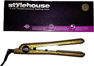 Style House Professional Ceramic Cheetah Straightener Styling Iron