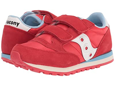 Saucony Kids Originals Jazz Double Hook Loop (Little Kid) (Red) Boy