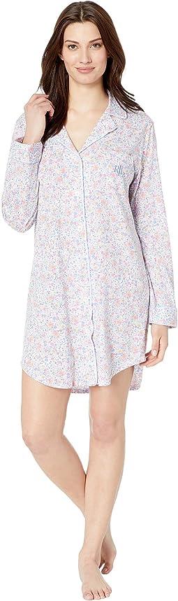 Knit Notch Collar Sleepshirt