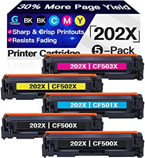 Go4max Compatible Toner Cartridges Replacement for HP 202X 202A CF500X Toners use with HP Laserjet Pro MFP M281fdw M281cdw...