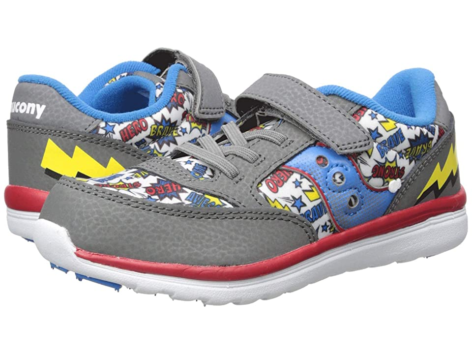 Saucony Kids Originals Jazz Lite (Toddler/Little Kid) (Grey/Multi/Superhero) Boys Shoes
