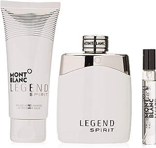 Mont Blanc Montblanc Legend Spirit Gift Set - Eau De Toilette Spray + 0.25 oz Mini Eau De Toilette Spray + Aftershave Balm
