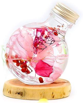Lulu's ルルズ フラワーリウム ~ピンク~ ハーバリウム プリザーブドフラワー ドライフラワー ボトルサイズ:高さ約9.3cm 胴径約7.2㎝×4.7cm 100ml フラワーリウム~ピンク~ Lulu's-1385