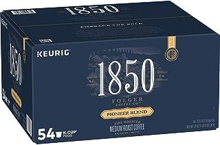 Folgers 1850 Pioneer Blend Medium Roast Coffee K Cup Pack, 54 ct 0.37 Oz Net Wt 20 Oz,, ()