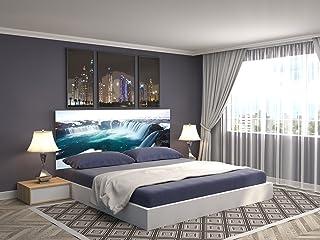 Cabecero Cama PVC Impresión Digital Cascada Agua 150 x 60 cm   Disponible en Varias Medidas   Cabecero Ligero, Elegante, Resistente y Económico