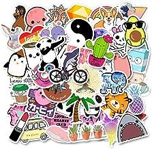 50 Pack Cute Laptop Stickers for Teen Girls Water Bottle Stickers Aesthetic Stickers for Laptop Trendy Waterproof Vinyl Decal
