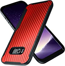 Samsung Galaxy S8 Case | 10ft. Drop Tested | Carbon Case | Ultra Slim | Lightweight | Scratch Resistant | Wireless Charging | Compatible with Samsung Galaxy S8 - Red