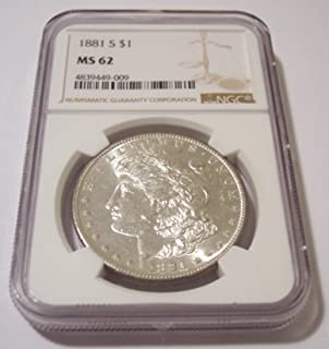 1881 S Morgan Silver Dollar MS62 NGC