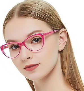696c49b285 OCCI CHIARI Acetate Cateye Non-Prescription Eyewear Frame Optical Eyeglasses  Women