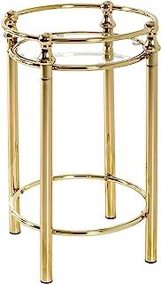 HAKU Möbel Beistelltisch, Sicherheitsglas, vermessingt, Ø 38 x 56 cm