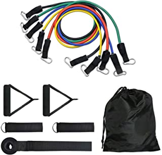 11Pcs Set Resistance Bands Set, Exercise Bands for women & men,for Resistance Training,Physical Therapy,Home Workouts - Ba...
