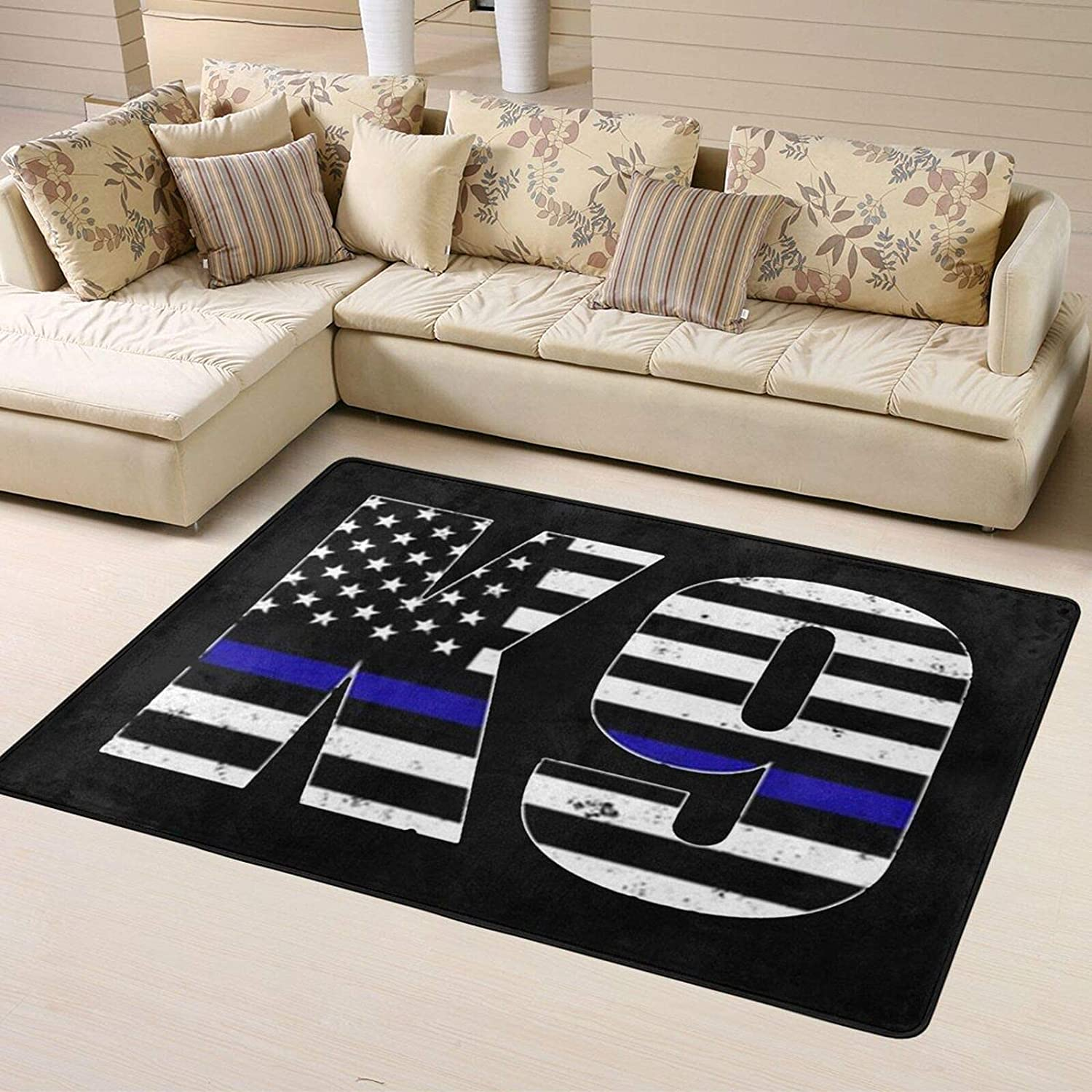 Police Topics Max 74% OFF on TV K9 Thin Blue Line Super Home Soft Personalized Decor Rugs