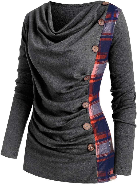 Leirke Women's Lattice San Jose Fresno Mall Mall Patchwork T-Shirt Blouses Button T V-Neck