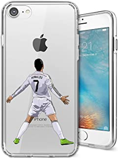 ETERINS Cases Ultra Slim [Crystal Clear] [Hardwood Series] Soft Transparent TPU Case Cover - CR7 for iPhone 8 7 Plus