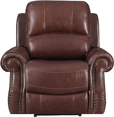 Amazon.com: Natuzzi Editions Matera Collection Brown Leather ...