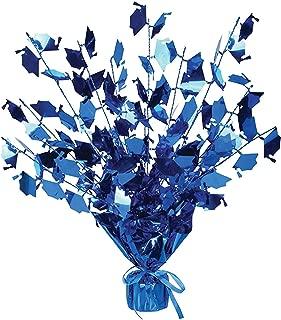 Graduation Cap Gleam 'N Burst Centerpiece (Blue) Party Accessory (1/pkg) Pkg/6