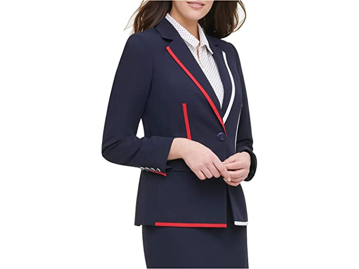 Tommy Hilfiger One-Button Piped Jacket