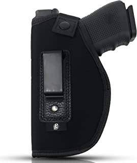 IWB Gun Holster by PH - Concealed Carry Soft Material   Fits All Firearms S&W M&P Shield 9mm / .40   1911 Models   Taurus PT111 G2   Sig Sauer   Glock 19 17 27 43   Beretta   Walther