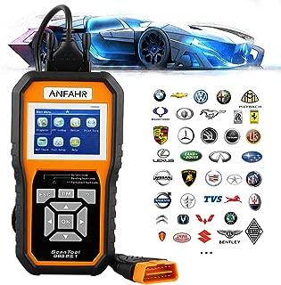 ANFAHR OBD2 OBDII EOBD Automotive Scanner, Diagnostic Code Reader for Vehicle Engine Fault O2 Sensor Systems Scan Tool Since 1996 - Orange (KW850)