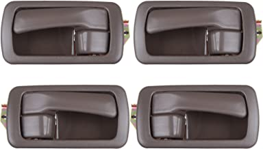 SCITOO 4Pcs Door Handle Brown Interior Right Left Side fits Toyota Camry 1992-1996