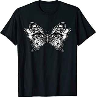 Butterfly Wings Tshirt - Mytic Eyes Mask - Flash Tattoo Tee