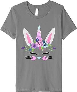 Kids Cute Easter Bunny Unicorn Gift T Shirt for Toddler Girl Baby