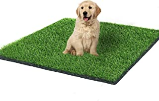Fortune-star 39.3in X 31.5in Artificial Grass Dog Grass Mat and Grass Doormat Indoor Outdoor Rug Drainage Holes Fake Grass...
