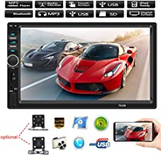 KOqwez33 Backup Camera and Bluetooth Car Stereo MP5 Player,7018B 7 Inch 2DIN Car FM Radio Bluetooth HD Reversing Camera USB/TF MP5 Player