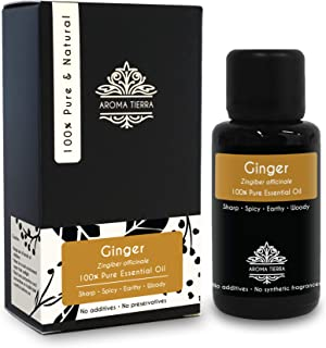 Ginger Essential Oil - Aroma Tierra - 100% Pure & Natural - 30ml