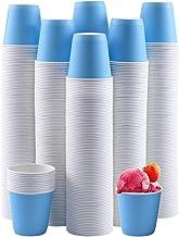 600 عبوة من الأكواب الورقية القابلة للاستعمال مرة واحدة بوزن 85 جم، أكواب شرب ساخنة/باردة، أكواب ورقية زرقاء صغيرة للحمام ...