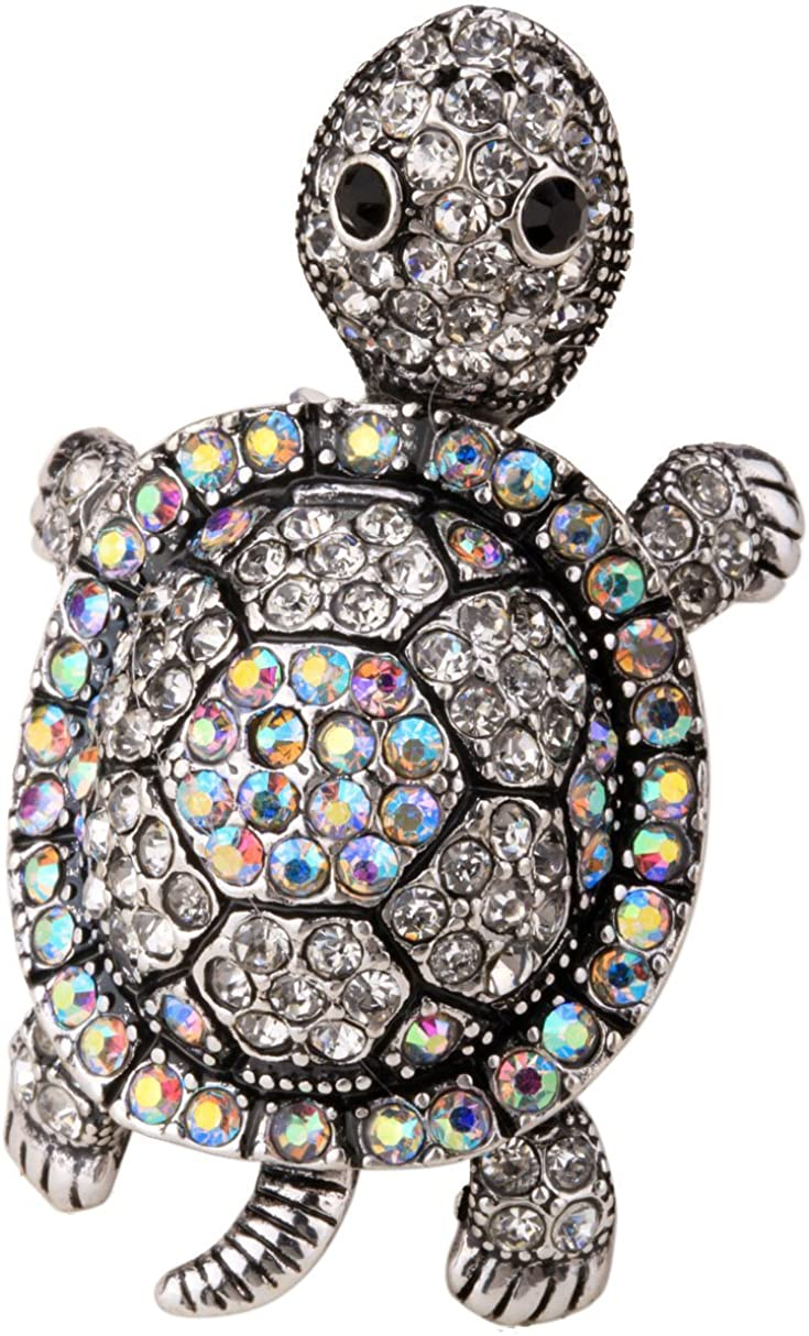 YACQ Bombing new work Women's Wiggling Memphis Mall Turtle Stretch Rings 7 Size to Fit Finger