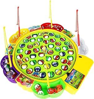 Fenteer Barnspel elektrisk fiskespel musikalisk fisk rollspel leksak – # A