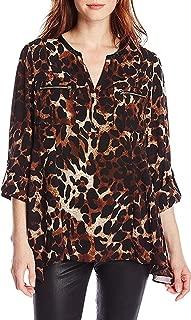 Rafaella Tawny Women's Animal-Print Woven Shirt