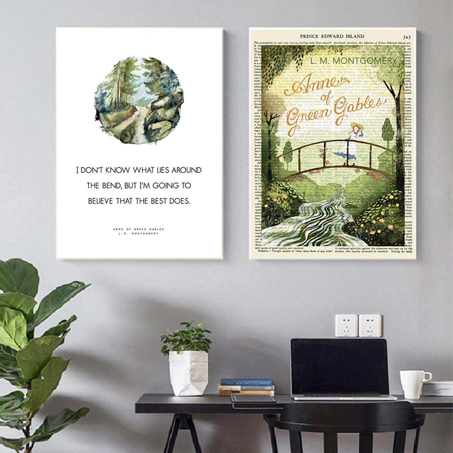 Anne of Green Gables service Positive Quotes Pictures Wall Bo Art Prints Wholesale