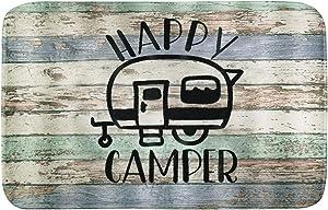 16x24 inches Happy Camper Non-Slip Doormat Bath Mat,Entrance Rug for Front Door Kitchen Floor Bath Tub Bedroom