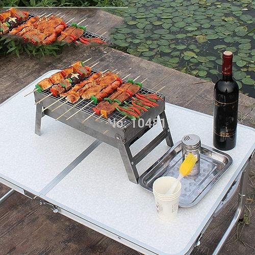 ILUVBBQ Barbecue en Plein air matériel de Camping poêle à Bois Pliant Mini Portable Grill à Charbon cuisinière en Acier Stainl