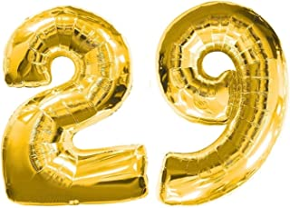 ZIYAN 40 Inch Giant 29th Gold Number Balloons,Birthday/Party Balloons