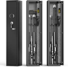 aokur Gun Safe for Rifles and Shotguns, Digital Keyboard 4 Rifle Safes for Home Rifle Gun and Pistols, Large Metal Rifle G...