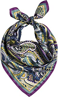 Silky Bandana Women's and Men's Fashion Patterned Bandana, Silk Feeling Super Soft Neckchief Hair Scarves