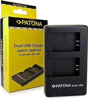 PATONA Cargador Doble para NB-13L Bateria Compatible con Canon PowerShot G1 X G7 X G9 X Mark II LEGRIA Mini X