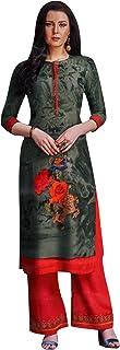ladyline Kurtis for Women with Palazzo Pants Set Rayon Kurta Indian Tunic Top Dress
