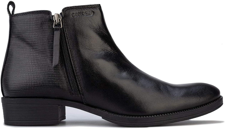 Geox Damen Stiefel Laceyin Ankle Ankle Schwarz  80% Rabatt