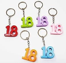 Portachiavi in metallo numero 18 bomboniera DICIOTTESIMO compleanno