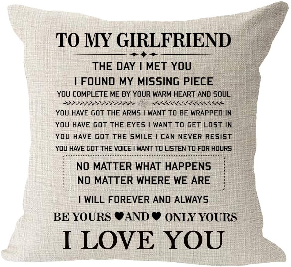 My Fiancée My Love I Promise To Always Be There For You Gift Cushion Cover Home Décor Pillows Home Décor