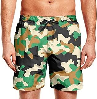 Male Beach Pants Multicam Camouflage Camo Green Swim Colorful Shorts
