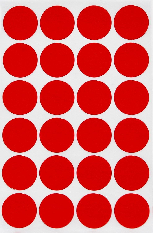 丸型ステッカー 25㎜ 2.5㎝ 赤 360片 ステッカー かわいい ごほうびシール まとめ買い シール 丸 カラーラベル Royal Green