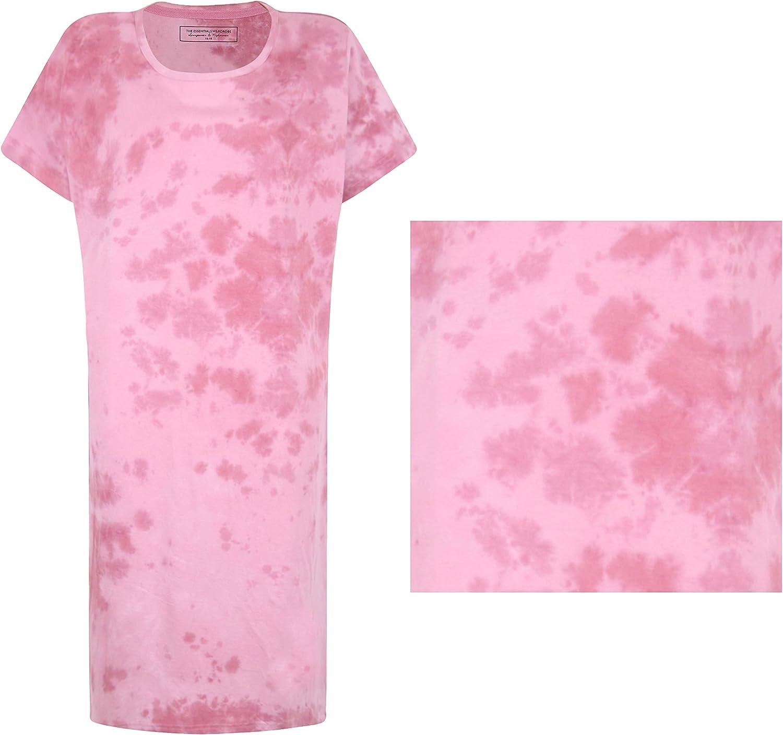 The Essentials Wardrobe Ladies Nightdress Nightwear T-Shirt Dress Pyjamas Pjs Loungewear Tie Dye Womens Size 8-22