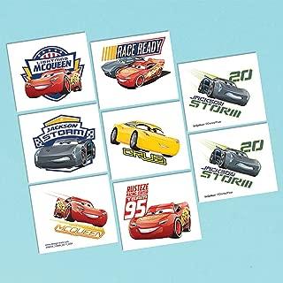 Cars 3 Tattoo Favor