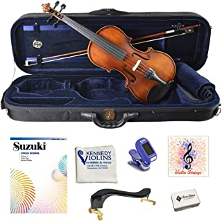 Strings and Tuner DLuca PROV-CA400-44 Strauss 400 Concerto Violin 4//4 with SKB Molded Case
