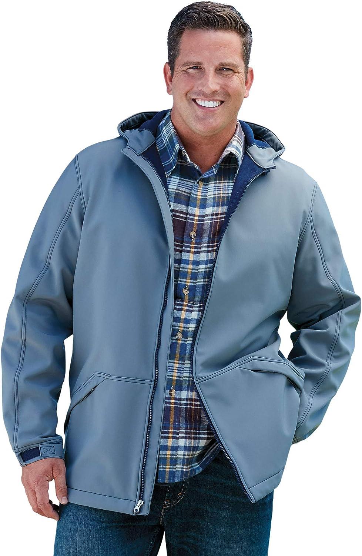 KingSize Mens Big /& Tall Fleece-Lined Rain Coat Raincoat
